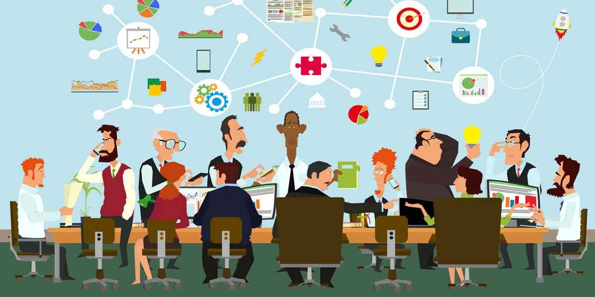 Meeting stehen-reden-raus